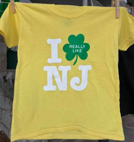 Kid's Irish I Really Like NJ T-Shirt - Yellow