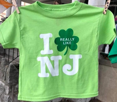 Kid's Irish I Really Like NJ T-Shirt - Green