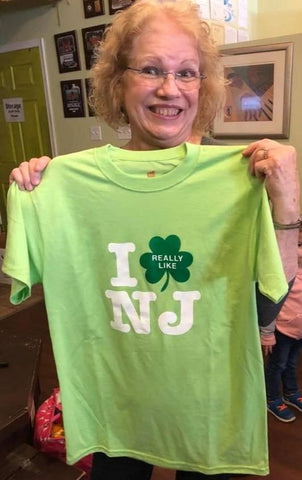 Irish I Really Like NJ T-Shirt Light Green w/ Green