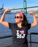 Women's I Really Like NJ T-Shirt Black w/ Pink