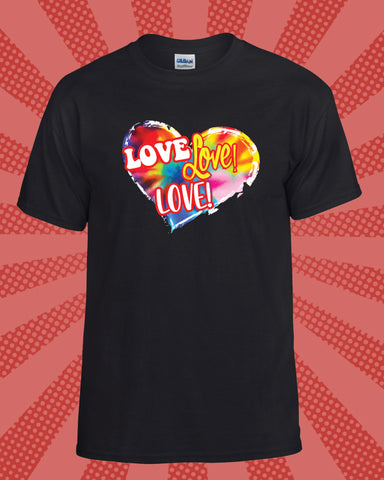 Love Love Love Full Color T-Shirt