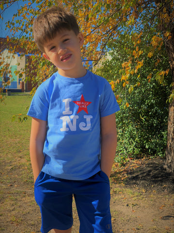Toddler I Really Like NJ T-Shirt - Blue w/Red