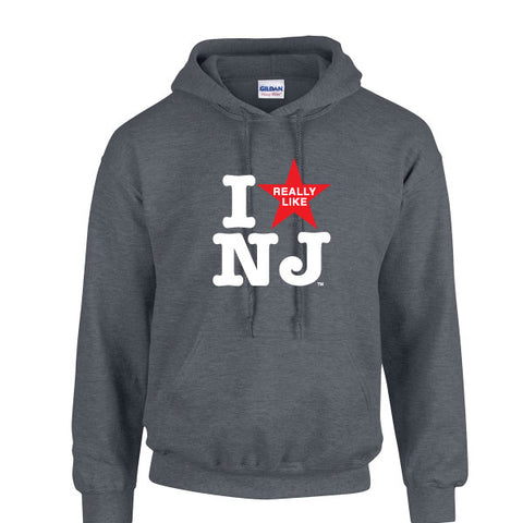 I Really Like NJ Dark Heather Hoodie