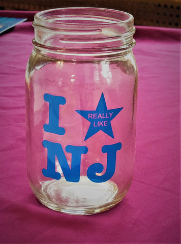 I Really Like NJ 16 oz. Mason Jar