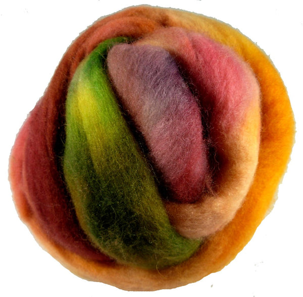 Corriedale Wool Roving, Autumn