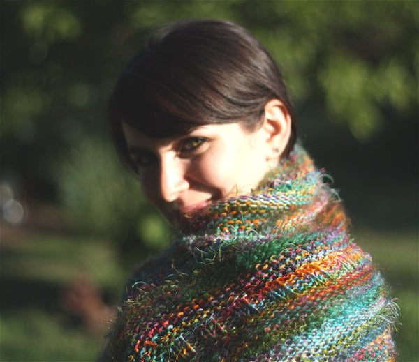Wrap Me Up Buttercup, Rectangle Shawl Kit, Using Biggie Yarn