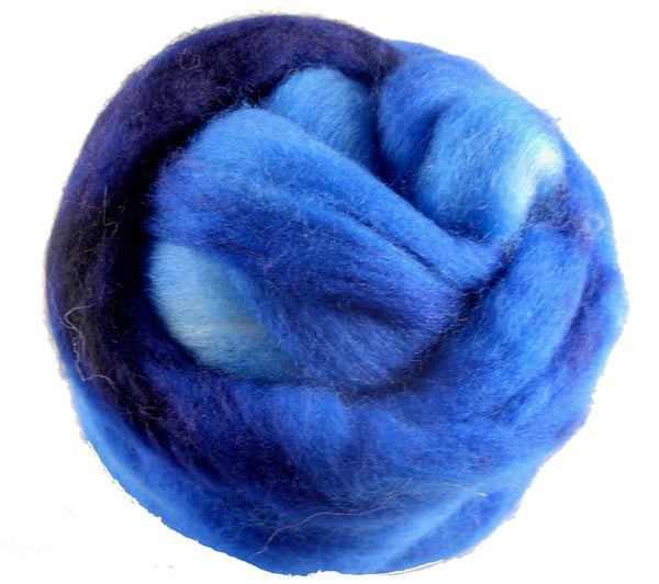 Corriedale Wool Roving, Sky Blue