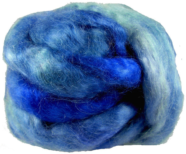 Mohair Roving, Sorta Solid Sky Blue