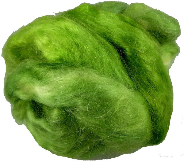 Mohair Roving, Sorta Solid Green