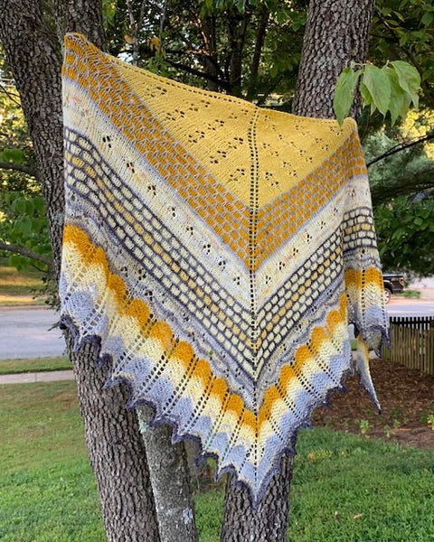 Dancing Honey Bees Shawl Kit