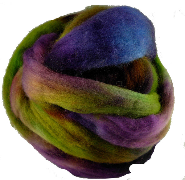 Corriedale Wool Roving, Mermaid