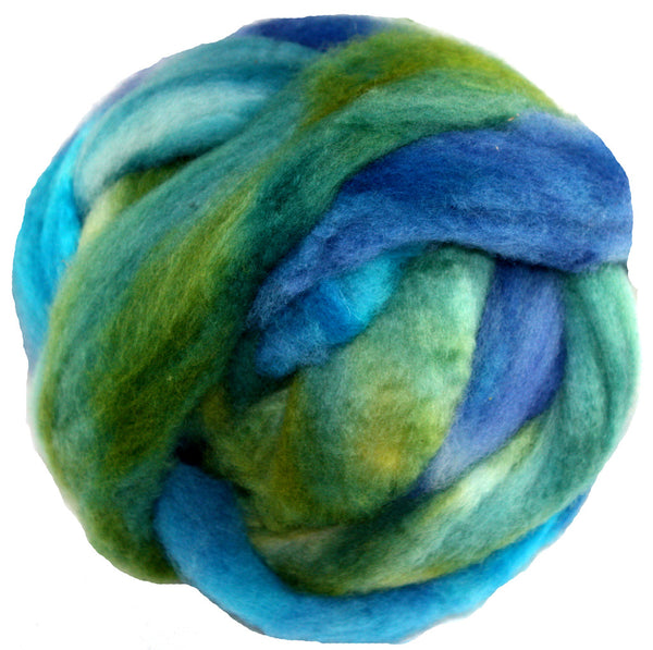 Corriedale Wool Roving, Mountain Glade