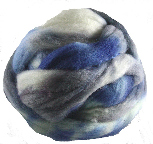 Corriedale Wool Roving, Polar Vortex