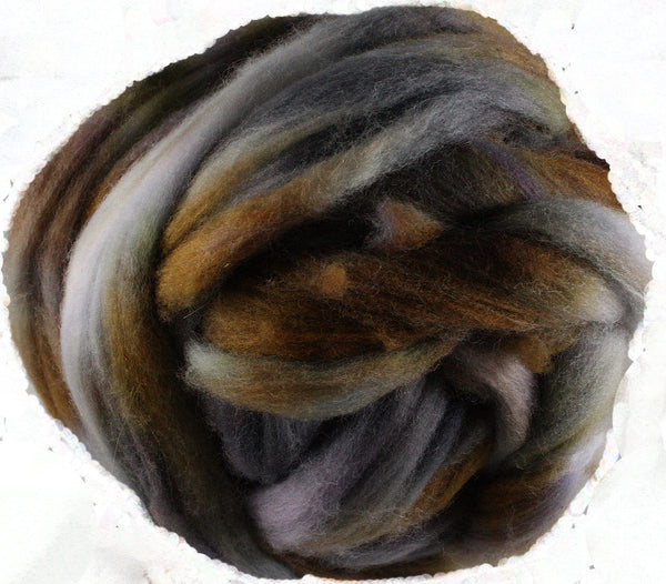 Corriedale Wool Roving, Pinto