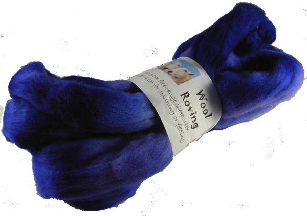 Merino or Blue Faced Leicester Roving, Purple