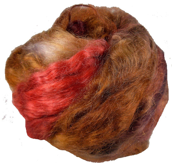 Mohair Roving, Red Rocks