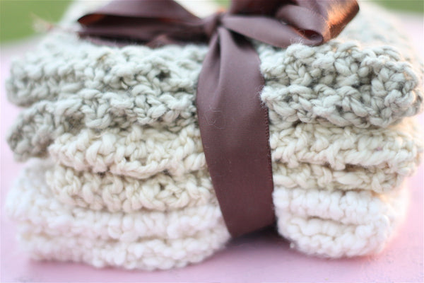 Spa washcloth pattern
