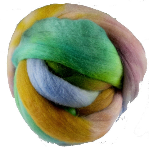 Merino or Blue Faced Leicester Roving, Spring Meadow