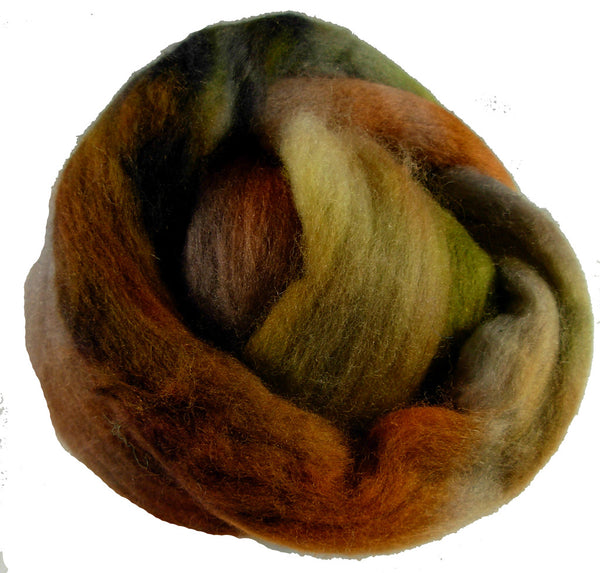 Merino or Blue Faced Leicester Roving, Woodsy