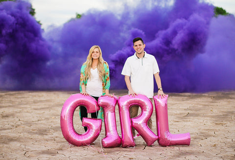 gender reveal smoke bombs purple smoke grenade pink blue
