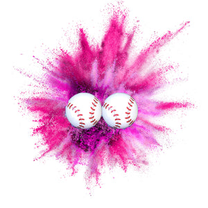 Gender Reveal Baseball - Set of 2 baseballs [1Pink/1Blue]