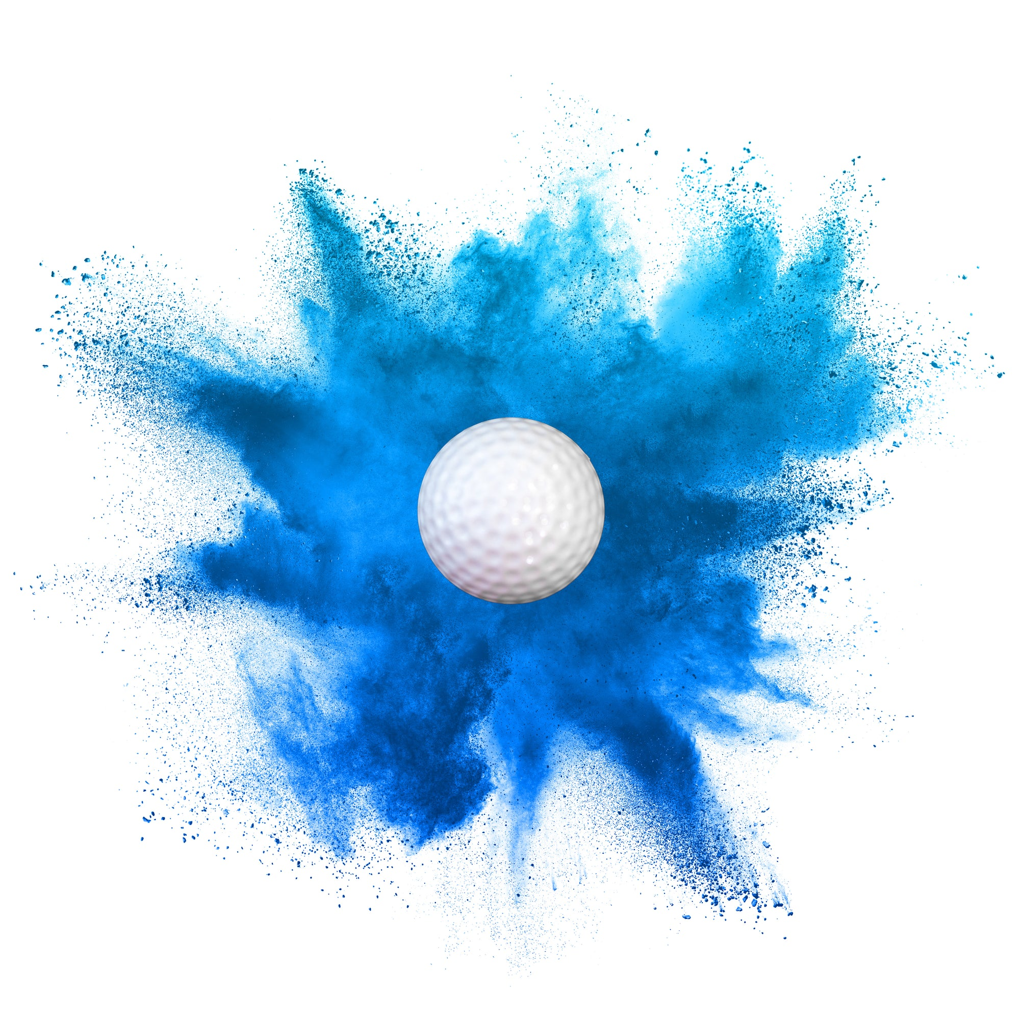 blue gender reveal golf ball boy