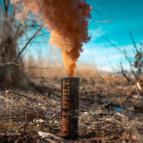 Ring Pull Smoke Grenade (90 Sec) Color Bomb Smoke Effect [Brown]