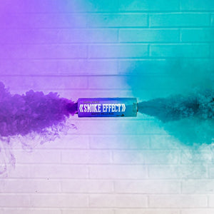 Dual Vent Ring Pull Smoke Grenade - Rapid Release [Purple & Teal]