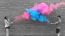 Load image into Gallery viewer, gender reveal smoke powder cannons pink blue
