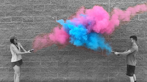 gender reveal smoke powder cannons pink blue
