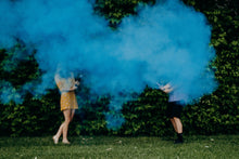 Load image into Gallery viewer, blue powder cannon gender reveal party popper