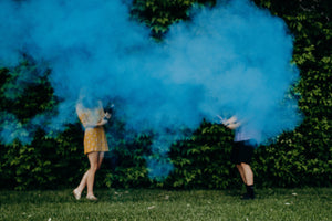 blue powder cannon gender reveal party popper