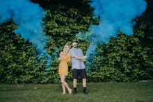 Load image into Gallery viewer, holi powder cannon confetti blue party popper