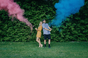 Gender Reveal Powder Cannon - Blue and Pink Packs