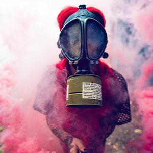 Ring Pull Mini Smoke Grenade (30 sec) Color Bomb Smoke Effect [Pink]