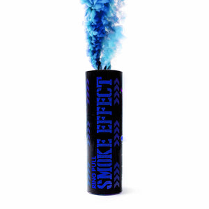 blue color smoke grenade