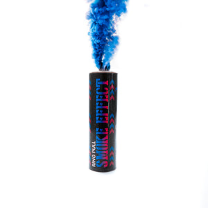 blue ring pull gender reveal smoke bomb