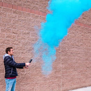 gender reveal powder cannon smoke cannon blue confetti