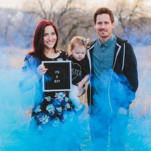 Load image into Gallery viewer, gender reveal smoke bomb blue