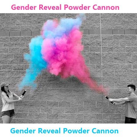 gender reveal powder smoke cannons