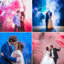 Load image into Gallery viewer, gender reveal smoke bombs pink blue smoke effect grenades