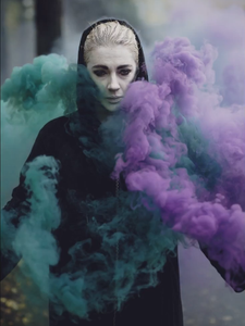 green purple smoke grenades halloween