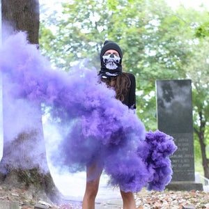 Wire Ring Pull Smoke Grenade (90 Sec) Color Bomb Smoke Effect [Purple]