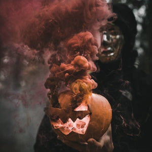 orange smoke bomb pumpkin