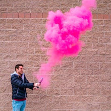 Load image into Gallery viewer, gender reveal smoke powder cannon pink cannon confetti