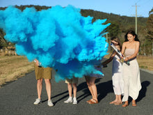 Load image into Gallery viewer, blue powder smoke cannon gender reveal