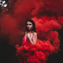 Load image into Gallery viewer, smoke bomb wire pull smoke effect red enola gaye