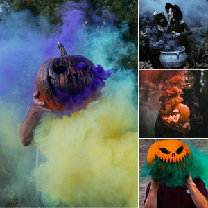 Halloween Smoke Bombs [6 Pack] Pull Ring Smoke Effect Grenades