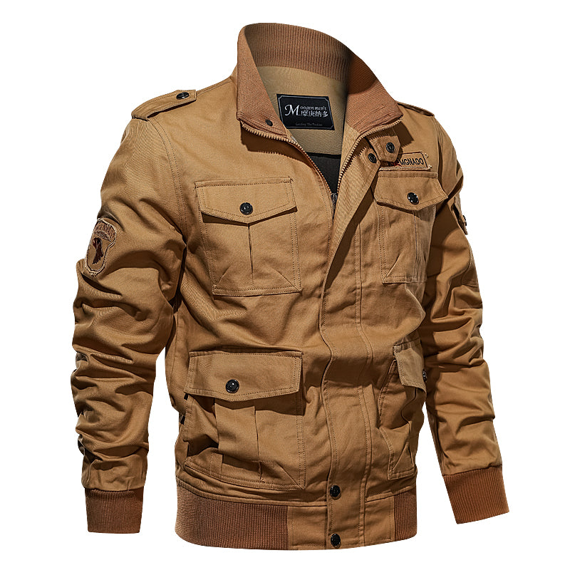 Plus Size Military Men's Bomber Jackets