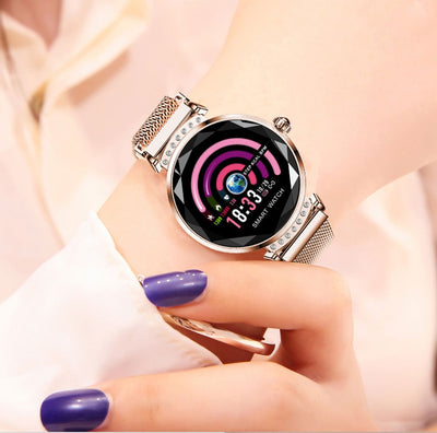 3D Women Diamond Glass Smartwatch - Wish Tricks